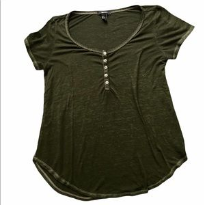 Forever 21 Olive Green Flowy Top